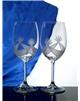Přátelská souprava kalíšků víno 350 ml brus mašle