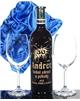 Dárková souprava Červené víno a 2 sklenice