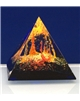 Těžítko – pyramida modrá abstrakt