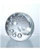 Těžítko – čirá koule s bublinami 80 mm