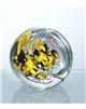 Těžítko – koule se žlutým abstraktem 80 mm