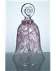 Skleněný zvonek červený 140 mm