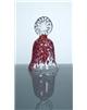 Skleněný zvonek červený 80 mm