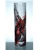 Kraklovaná váza červeno-černá