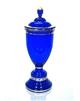 Pohár modrý zlacený s víčkem 380 mm