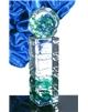 Atypická skleněná trofej zelená 250 mm