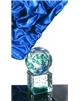 Atypická skleněná trofej zelená 140 mm
