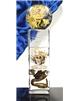 Atypická skleněná trofej žluto-černá 250 mm