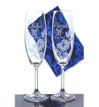 Sklenice na šampaňské Lara – dárková souprava