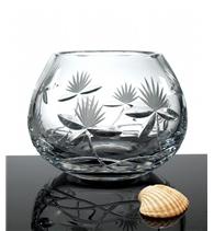 Broušená váza koulová 120 mm