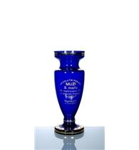Pohár modrý zlacený 220 mm